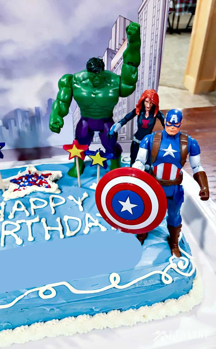 Marvelous Avengers Birthday Cake Idea And Party Supplies Kenarry Funny Birthday Cards Online Alyptdamsfinfo