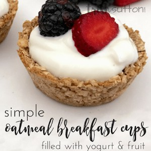 Oatmeal Breakfast Cups Recipe; TrishSutton.com