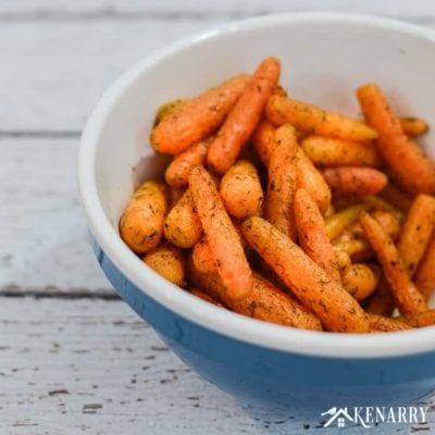 This easy roasted carrots recipe uses baby carrots, dill weed, butter, salt and pepper. Learn how to make this delicious vegetable side dish idea for an easy dinner.