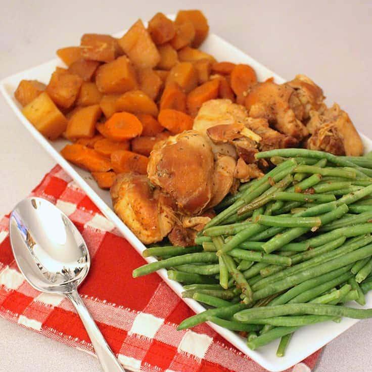 Slow Cooker Honey Garlic Chicken and Vegetables