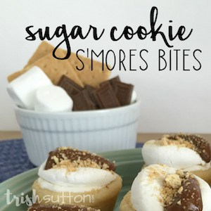 Sugar Cookie S'mores Bites; TrishSutton.com