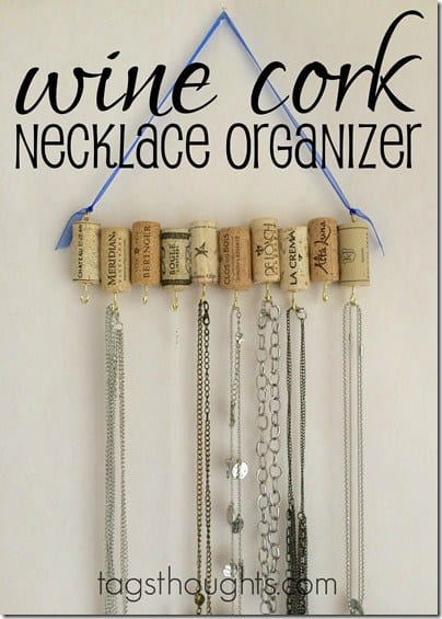 Wine Cork Necklace Organizer – Trish Sutton - 16 Brilliant Ideas for DIY Jewelry Organizers on Kenarry.com