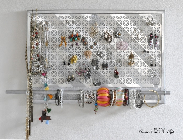 DIY Jewelry Organizer – Anika's DIY Life - 16 Brilliant Ideas for DIY Jewelry Organizers on Kenarry.com
