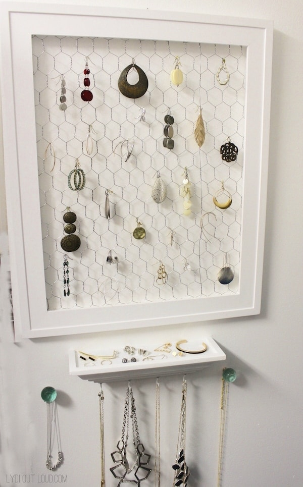 DIY Jewelry Organizer – Lydi Out Loud - 16 Brilliant Ideas for DIY Jewelry Organizers on Kenarry.com