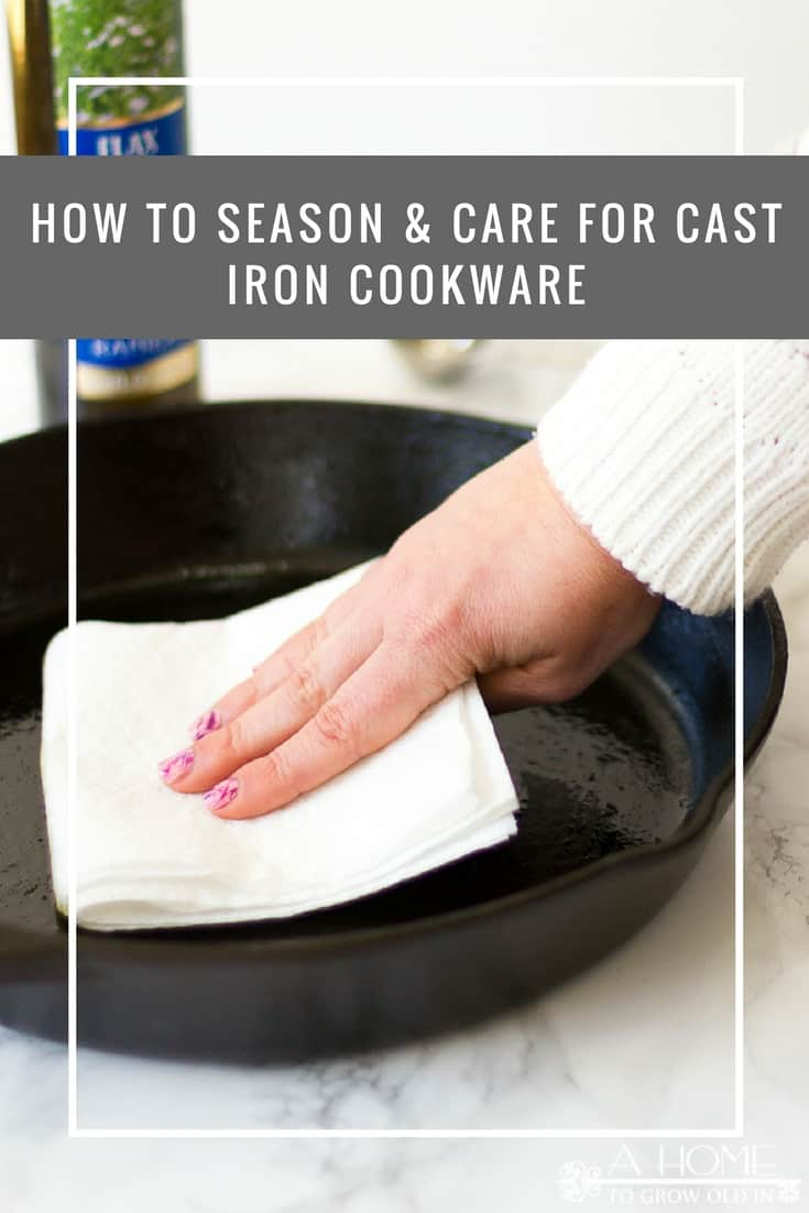 Check out these easy tips on how to season and care for your cast iron cookware so that it will last you a lifetime!