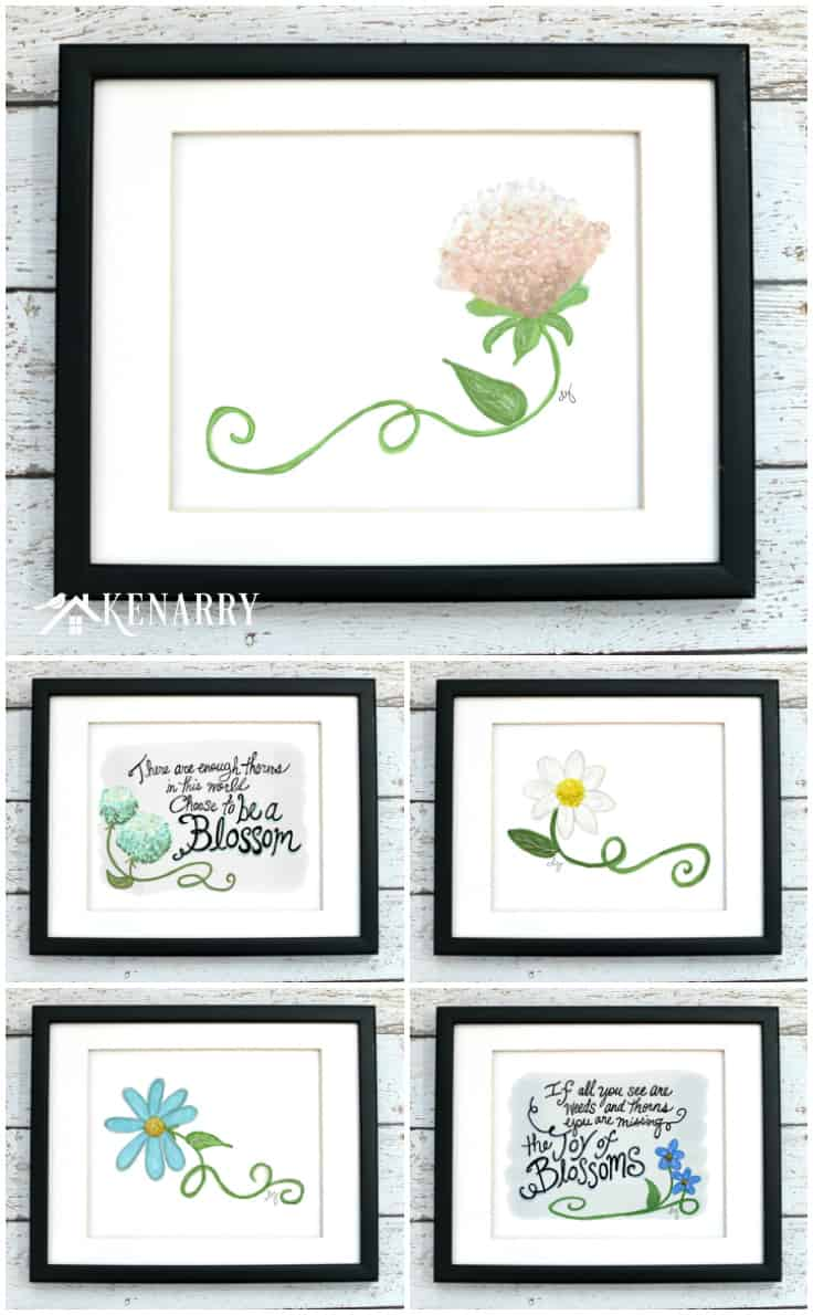 Brighten your home decor with new, budget-friendly spring wall art! This flower art collection on Etsy features 25 inspiring and original floral printables available now for instant download.