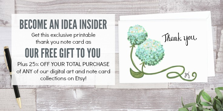 This free printable thank you card features beautiful blue flowers and is perfect for a wedding, bridal shower, teacher appreciation, birthday or hostess gift.
