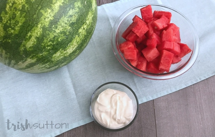 Watermelon Soft Serve | Creamy Two Ingredient Recipe; TrishSutton.com