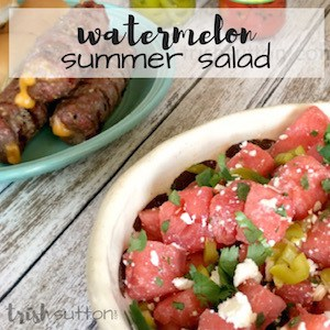Watermelon Summer Salad Recipe; TrishSutton.com