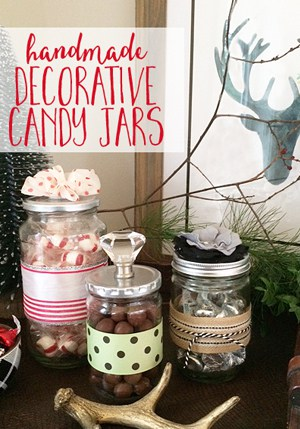 Handmade Decorative Candy Jars make a great gift idea