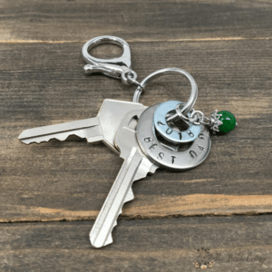Stamped Washer Key chain from The Birch Cottage