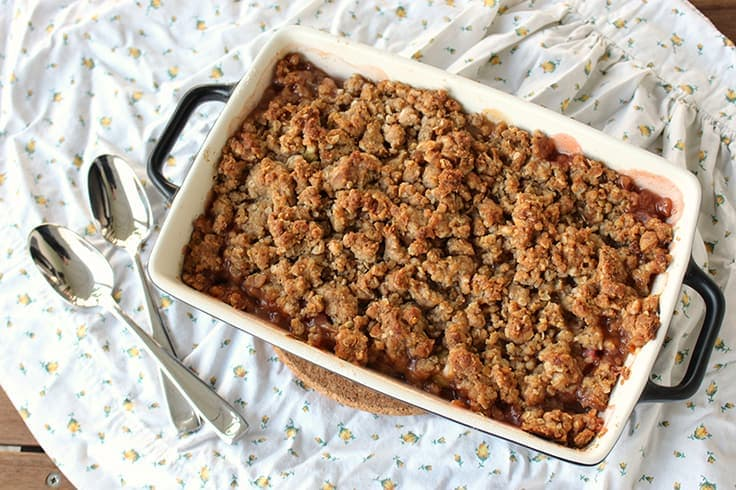 Nothing beats a good old-fashioned dessert and this Classic Rhubarb Crisp recipe is just the kind of thing your grandmother would make. With its crunchy golden topping and tart rhubarb filling, it's the perfect easy dessert idea for summer.