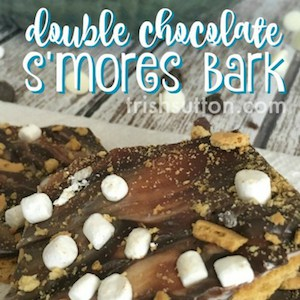 Double Chocolate S'mores Bark; TrishSutton.com