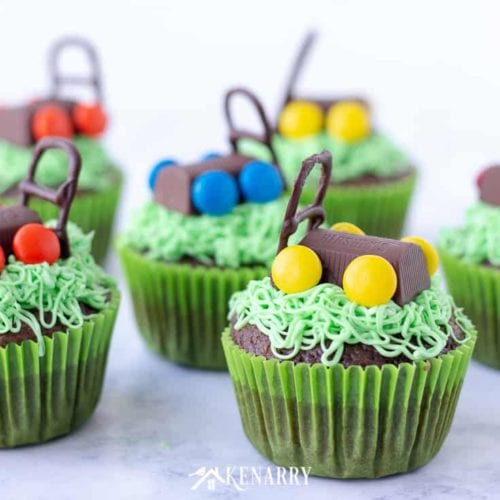 Father S Day Cupcakes With Candy Lawn Mowers Kenarry