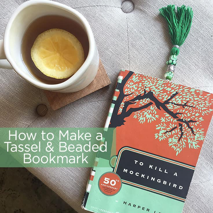 How to Make a Tassel and Beaded Bookmark