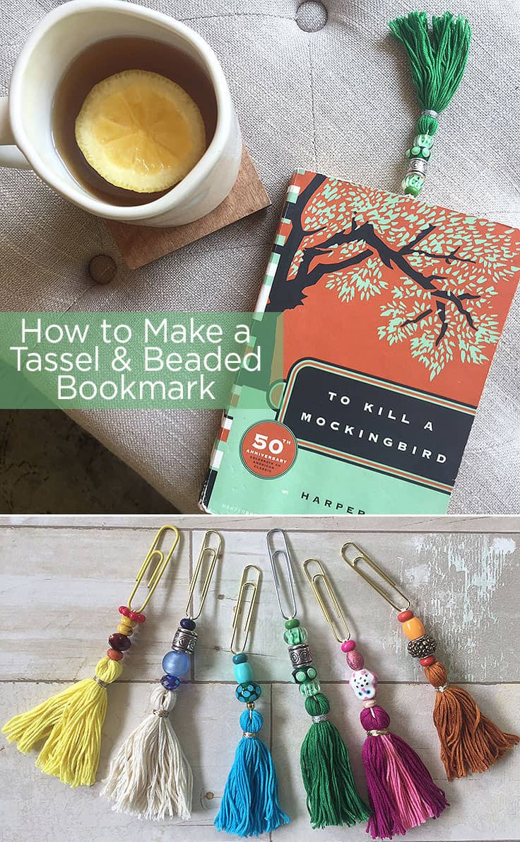 How to Make a Tassel and Beaded Bookmark #diygifts #tassels #teachergifts