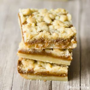 Make this Salted Caramel Butter Bars Recipe as an easy dessert idea to take to a summer potluck, picnic or backyard barbecue.