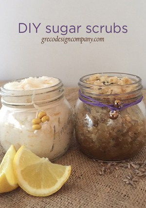 DIY Sugar Scrubs make great gift ideas