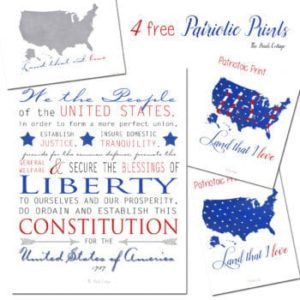 4 free patriotic prints for your home by The Birch Cottage