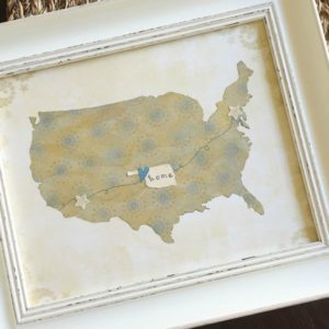Home Sweet Home Art: 14 Home Art Ideas Using Maps or Quotes