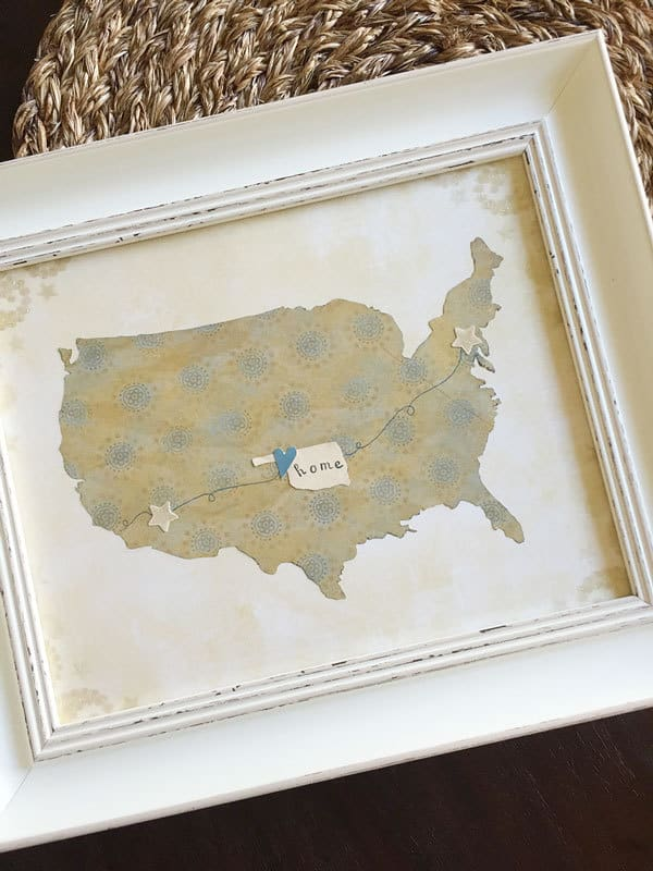Home State Inspired Art – Storypiece - Home Sweet Home Art: 14 Easy DIY Craft Ideas featured on Kenarry.com