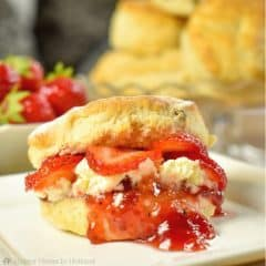 Classic British Scones Recipe: Perfect served with clotted cream, jam and fresh strawberries.
