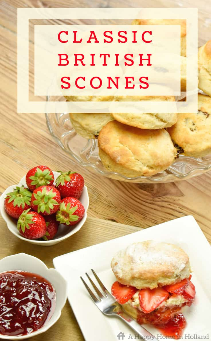 Delicious traditional British scone recipe - so quick and easy to make! #scones #recipes #britishfood #easyrecipe