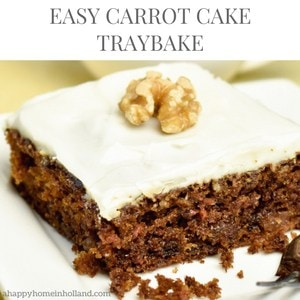 Easy Carrot Cake Traybake Recipe