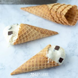 Ever made your own homemade ice cream? This easy no churn recipe uses dark chocolate chunks and caramel for an easy summer dessert you can serve in a dish or better yet have your ice cream on a waffle cone!