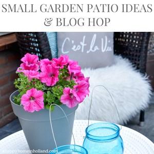 small garden patio ideas and blog hop