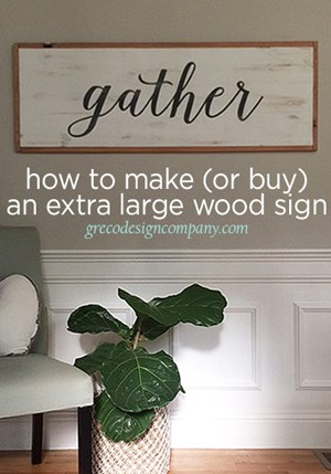 How to Make a large Wood sign