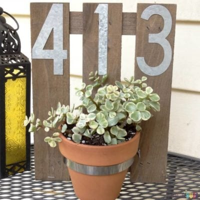 DIY House Number Wall Planter