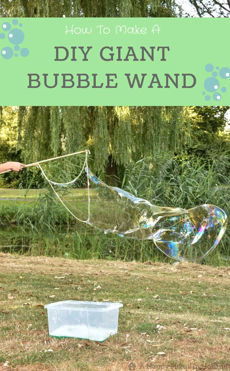 Learn how to make giant bubble wands in this easy diy tutorial