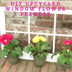 DIY Upcycled Window Flower Planter