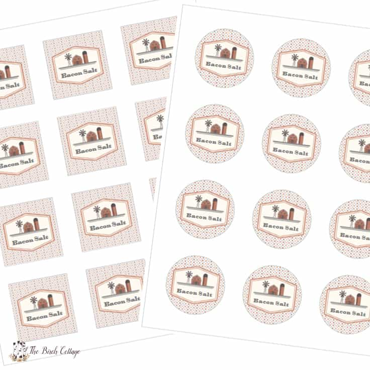 Bacon Salt Labels for Avery 22817 and 22806 Labels