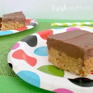 Chocolate Peanut Butter Chex Squares; TrishSutton.com