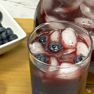 Homemade Blueberry Lemonade