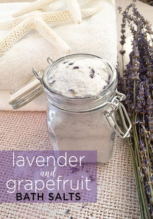 Lavender and Grapefruit Bath Salts