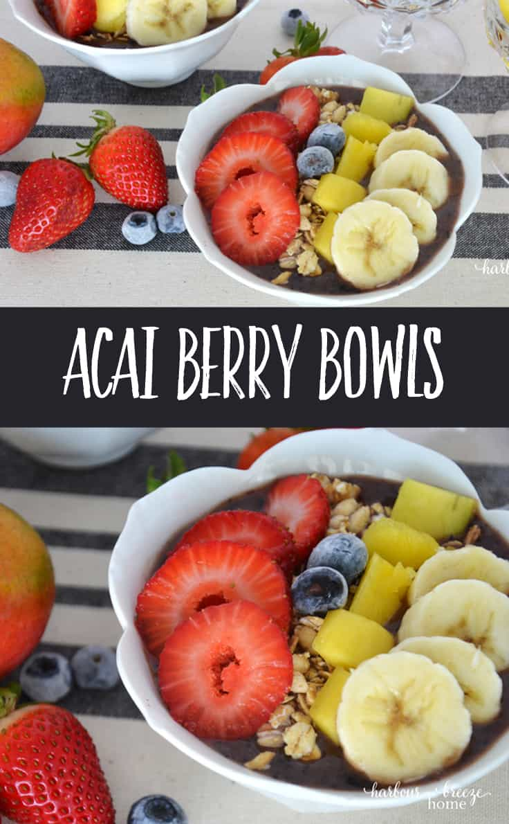 These Acai Berry Bowls are a delicious and nutritious treat. Packed with fresh flavor, they are a great snack or breakfast idea.
