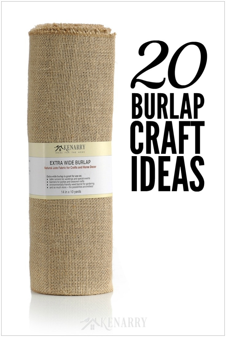 Extra wide burlap is great to use as table runners for weddings and events, banners for parties and other burlap craft ideas. The possibilities are endless! #burlap #crafts #diy #diyhomedecor