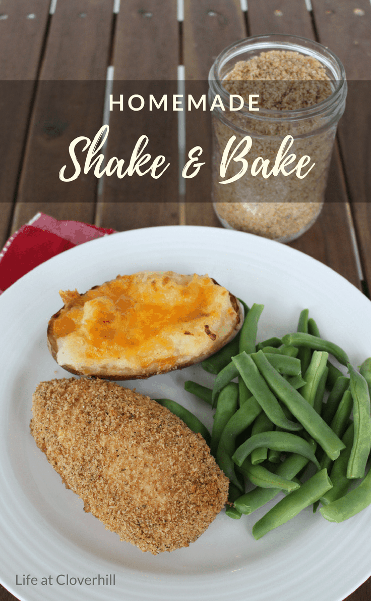 This homemade shake and bake recipe is even better than the store bought stuff! #easyrecipe #dinner #chicken #copycat