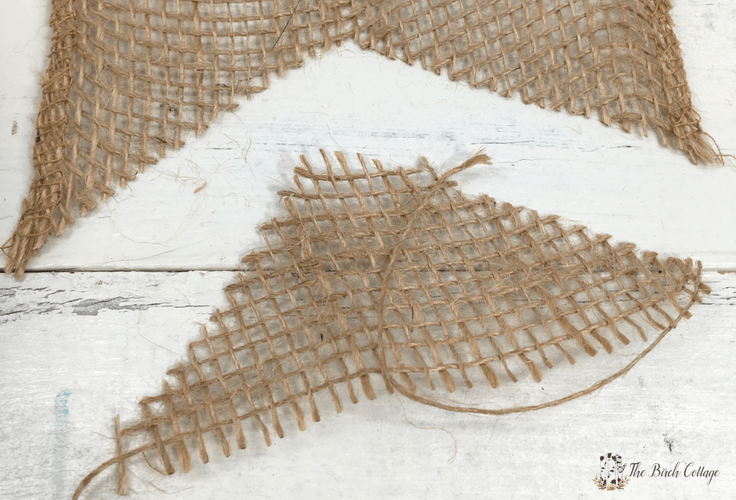 Give Thanks Burlap Banner from Burlap Ribbon by The Birch Cottage