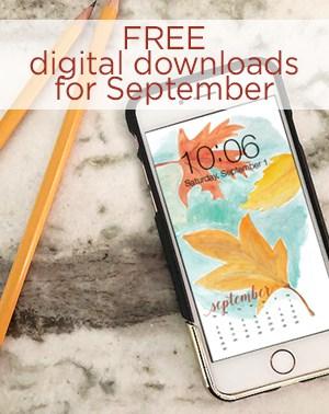 FREE digital downloads for September