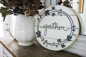 diy gather fall sign
