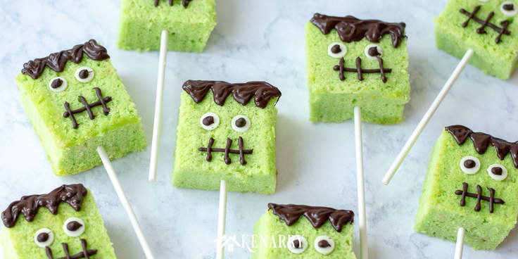 Your kids will love these cute cake pops for Halloween. Each Frankenstein face is unique and so fun with candy eyeballs and melted chocolate. Follow this easy step-by-step recipe.