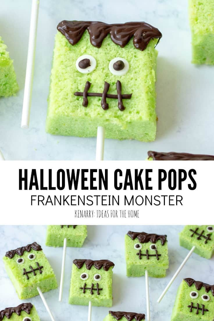 frankenstein monster halloween cake pops | kenarry
