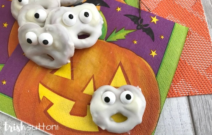Amazingly Simple Halloween Ghost Treats Vanilla Salty Sweet; TrishSutton.com
