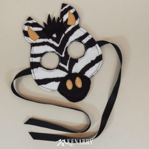 Create a kids zebra costume for a child who loves jungle animals and wild prints. This zebra mask and tutorial is great for a Halloween costume idea or for the dress-up bin.