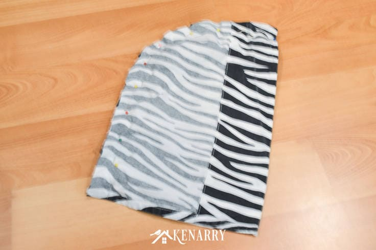 Create an easy kids zebra costume for your wild jungle animal to wear for dress-up or Halloween using this tutorial with free printable diy mask template.