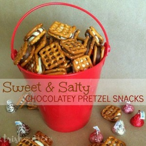 Salty Sweet Chocolately Pretzel Snacks; TrishSutton.com